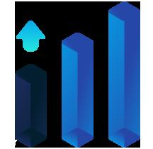 Elemento gradiente da página de criação de sites de alta performance