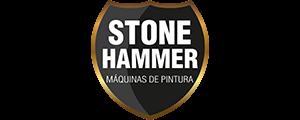 Logotipo da empresa Stone Hammer Máquinas de Pintura, inserido na página de clientes do site da Postali